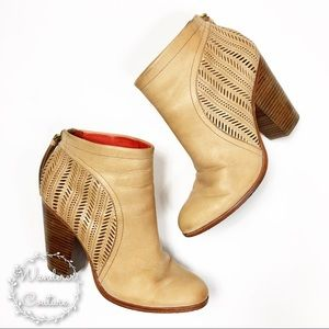 Coach Honey Laser Cut Booties